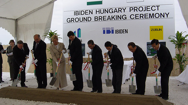 The ground-breaking ceremony of IBIDEN Hungary